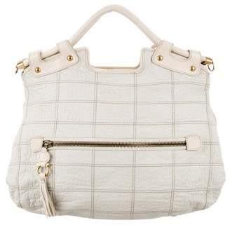 Salvatore Ferragamo Leather Tassel Satchel Bag