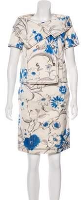 Oscar de la Renta Floral Skirt Set