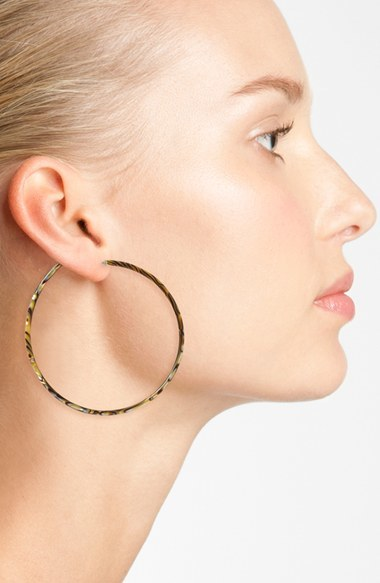 Women's L Erickson 'Jumbo' Hoop Earrings 2