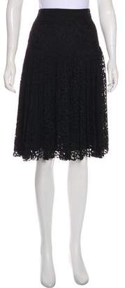 Rebecca Taylor Laced Knee-Length Skirt