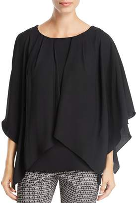 Badgley Mischka Draped Blouse