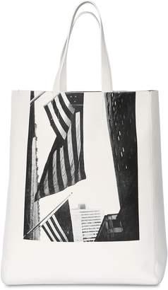 Calvin Klein American Flag Nappa Leather Tote Bag