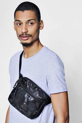 boohoo Camo Nylon Bum Bag