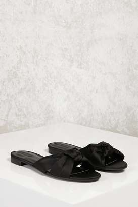 FOREVER 21+ Knotted Satin Slides $19.90 thestylecure.com