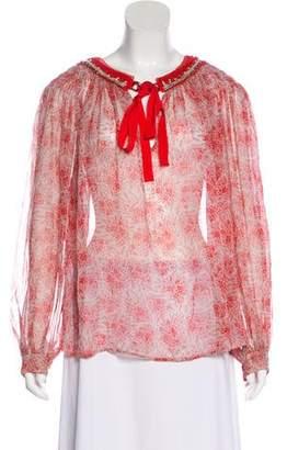 3.1 Phillip Lim Silk Floral Top