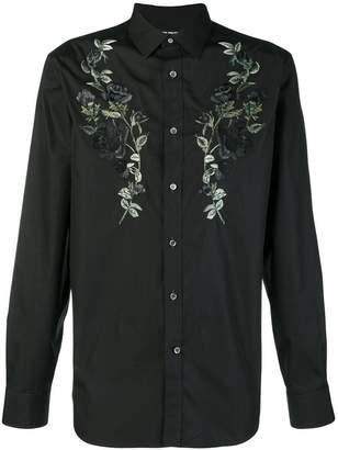 Alexander McQueen embroided longsleeved shirt