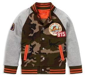 Ralph Lauren Boys' Camouflage Color-Block Baseball Jacket - Little Kid