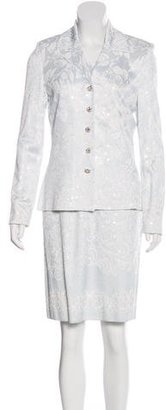 St. John Embellished Dress Suit $475 thestylecure.com