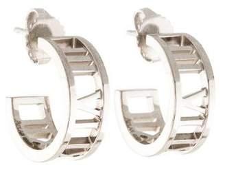 Tiffany & Co. 18K Atlas Mini Hoop Earrings