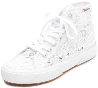 Superga Macrame High Top Sneakers $99 thestylecure.com