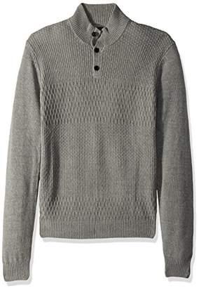 Perry Ellis Men's Solid Textured Mock Neck Sweater