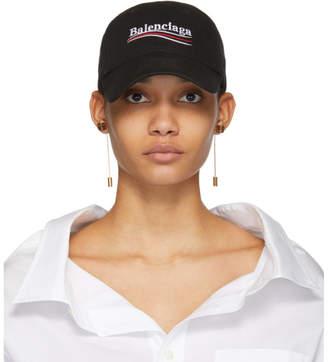 Balenciaga Black Campaign Logo Cap