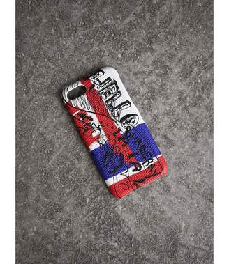 Burberry Doodle Print Leather iPhone 7 Case