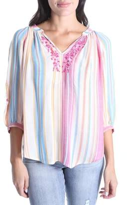 KUT from the Kloth Iona Embroidered Peasant Blouse