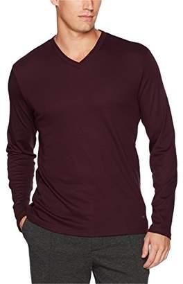 Calvin Klein Men's Long Sleeve Double Collar V-Neck Shirt