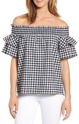 Women's Caslon Off The Shoulder Ruffle Sleeve Top $59 thestylecure.com