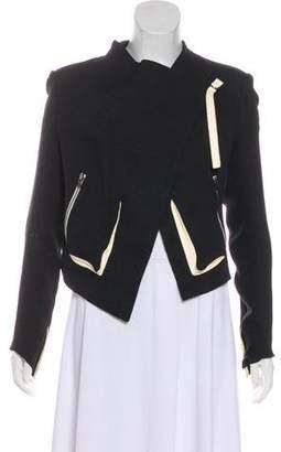 Helmut Lang Leather-Trimmed Colorblock Jacket