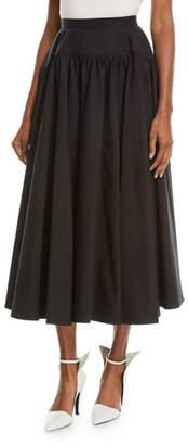 Calvin Klein Drop-Waist Cotton Long Full Skirt