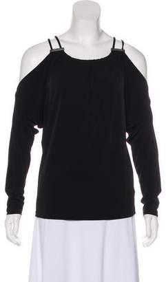MICHAEL Michael Kors Long Sleeve Cold-Shoulder Top