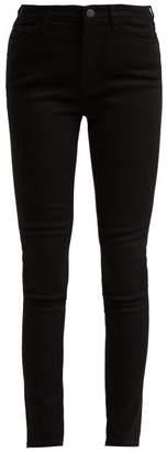 M.i.h Jeans - Bridge High Rise Stretch Denim Jeans - Womens - Black