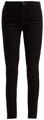 MiH Jeans Bridge High Rise Stretch Denim Jeans - Womens - Black