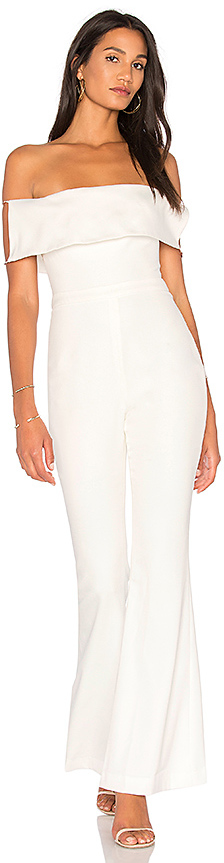 STYLESTALKER Savannah Jumpsuit in White. - size 4/S (also in )
