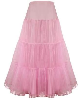 MariRobe Women's Floor Length Wedding Petticoat Long Underskirt Formal Dress Slips (Small/Medium, )