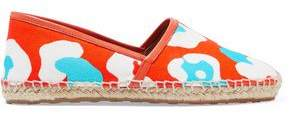 Red(V) Red(v) Printed Canvas Espadrilles