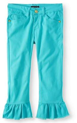 XOXO Ruffle Hem Stretch Twill Crop Pant (Little Girls & Big Girls)