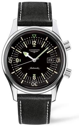 Longines Heritage Legend Diver Automatic Synthetic Strap Watch, 42mm