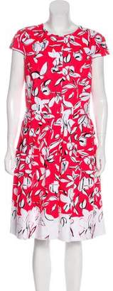 Oscar de la Renta Printed Midi Dress w/ Tags