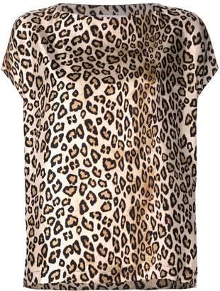 Alberto Biani leopard print T-shirt
