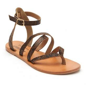 Matisse Ti Amo Snake Embossed Leather Sandal
