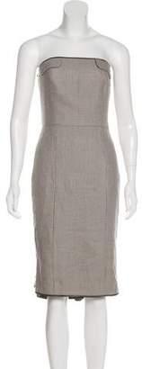 Lela Rose Tweed Strapless Dress