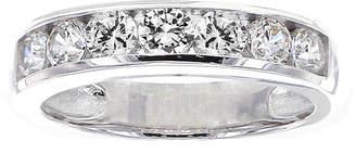 FINE JEWELRY DiamonArt Cubic Zirconia Sterling Silver Channel-Set Ring