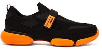 Prada Cloudbust Knit Trainers - Mens - Black Orange