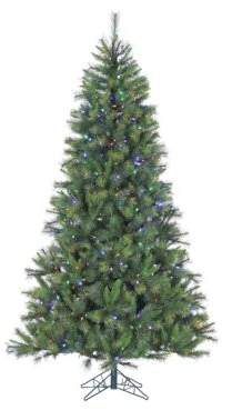 Fraser Hill Farms Pre-Lit Canyon Pine Artificial Christmas Tree - Multi - 9 Ft.