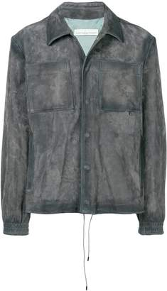 Golden Goose fitted leather jacket