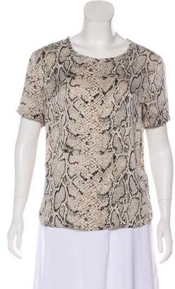 Equipment Silk Short Sleeve Top