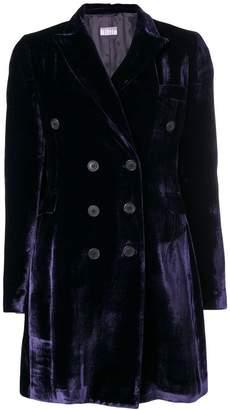 Kiltie velvet buttoned blazer