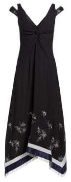 3.1 Phillip Lim Embellished Silk V-neck Dress