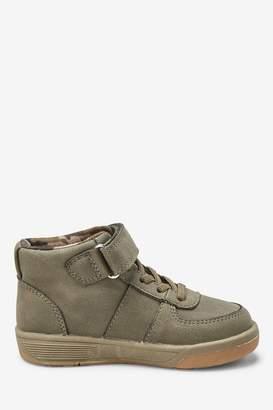 Next Boys Khaki Elastic Lace Boots (Younger) - Green
