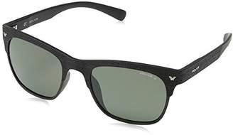 Police Polarised Wayfarer Black Sunglasses S1950 U28P -20-140