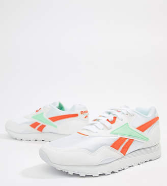 Reebok Exclusive To ASOS Rapide Sneakers In Green And Orange