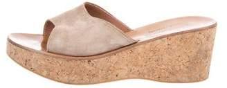 K Jacques St Tropez Slide Wedge Sandals