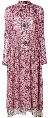 Cédric Charlier floral print midi dress