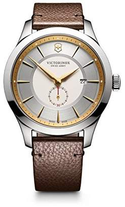 Victorinox Men's Alliance Stainless Steel Swiss-Quartz Watch with Leather Strap