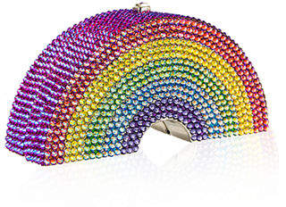 Judith Leiber Couture Rainbow-Shaped Crystal Pillbox