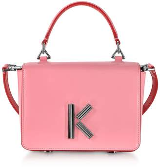 Kenzo Medium Faded Pink Leather Crossbody K-bag
