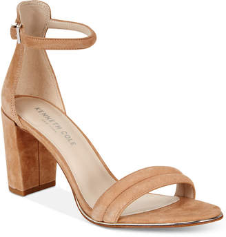 Kenneth Cole New York Women's Lex Block-Heel Sandals $130 thestylecure.com
